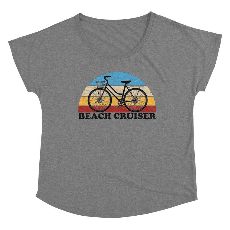 Beach Cruiser Bike Vintage Colors Women's Scoop Neck by The Wandering Fools Artist Shop