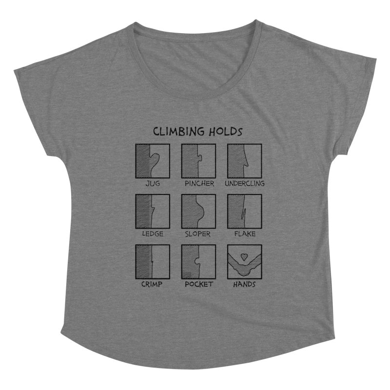 Climbing Holds New Women's Scoop Neck by The Wandering Fools Artist Shop