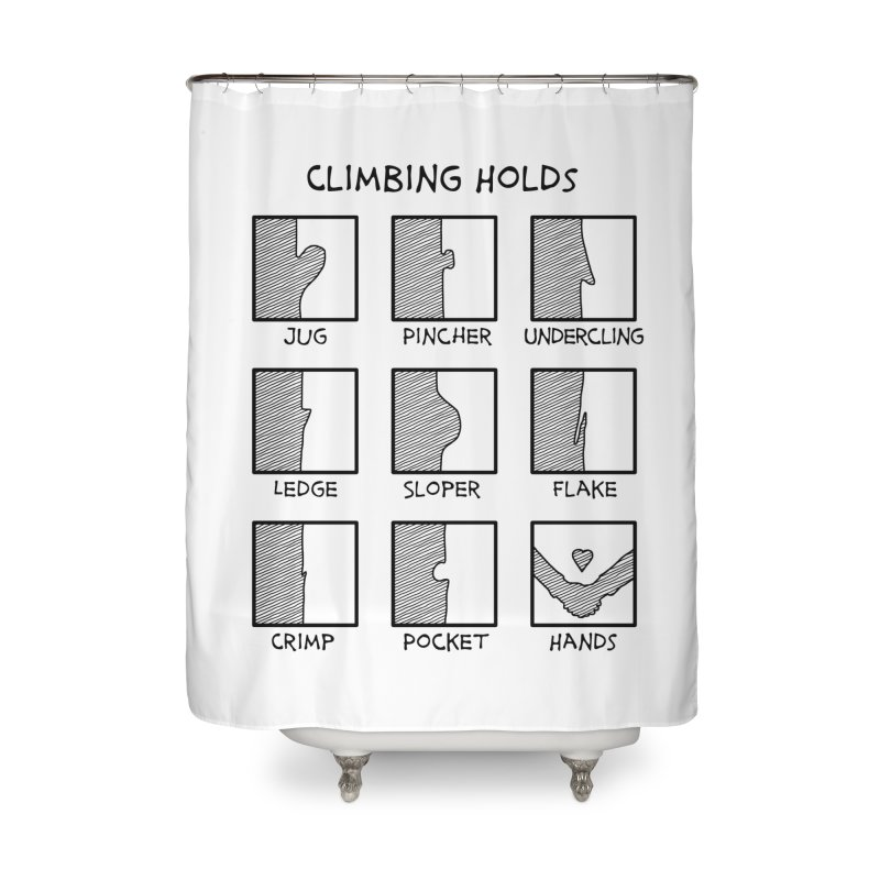 Climbing Holds New Home Shower Curtain by The Wandering Fools Artist Shop