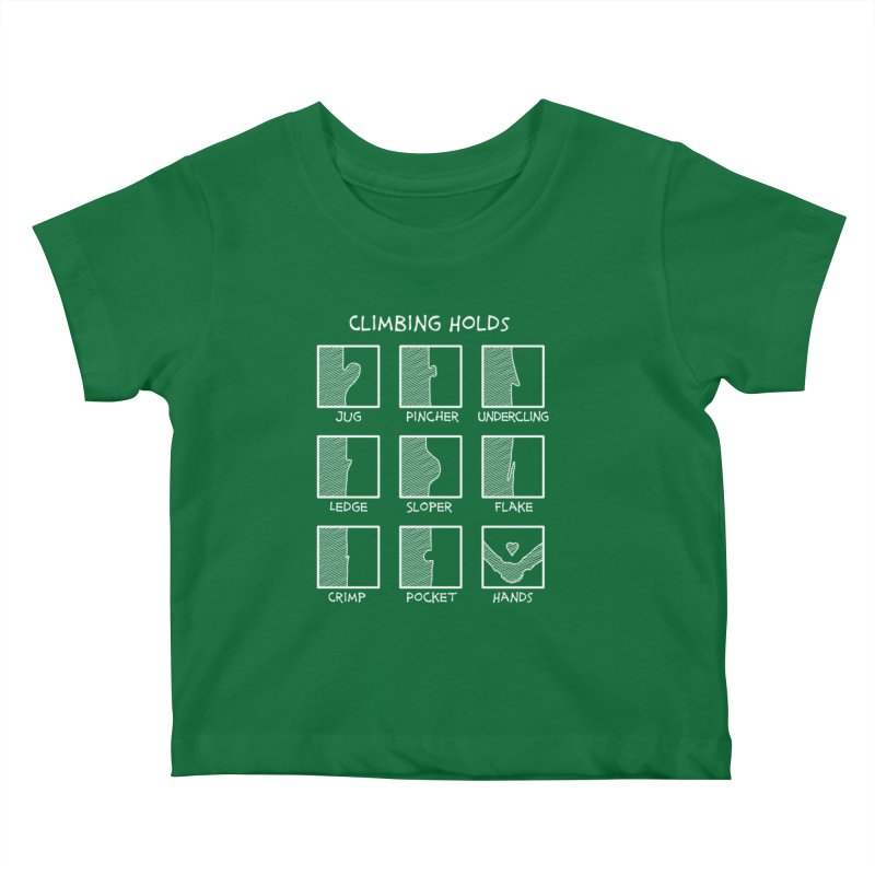 Climbing Holds New Kids Baby T-Shirt by The Wandering Fools Artist Shop