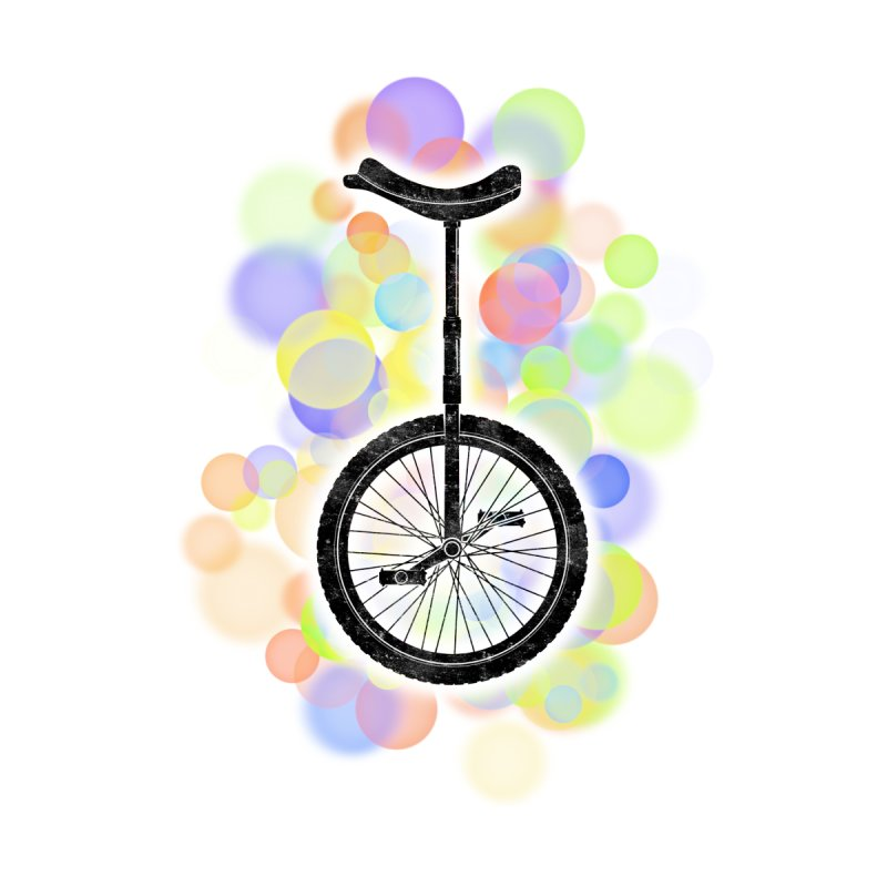 Unicycle Bike Bubbles Kids Baby Longsleeve Bodysuit by The Wandering Fools Artist Shop