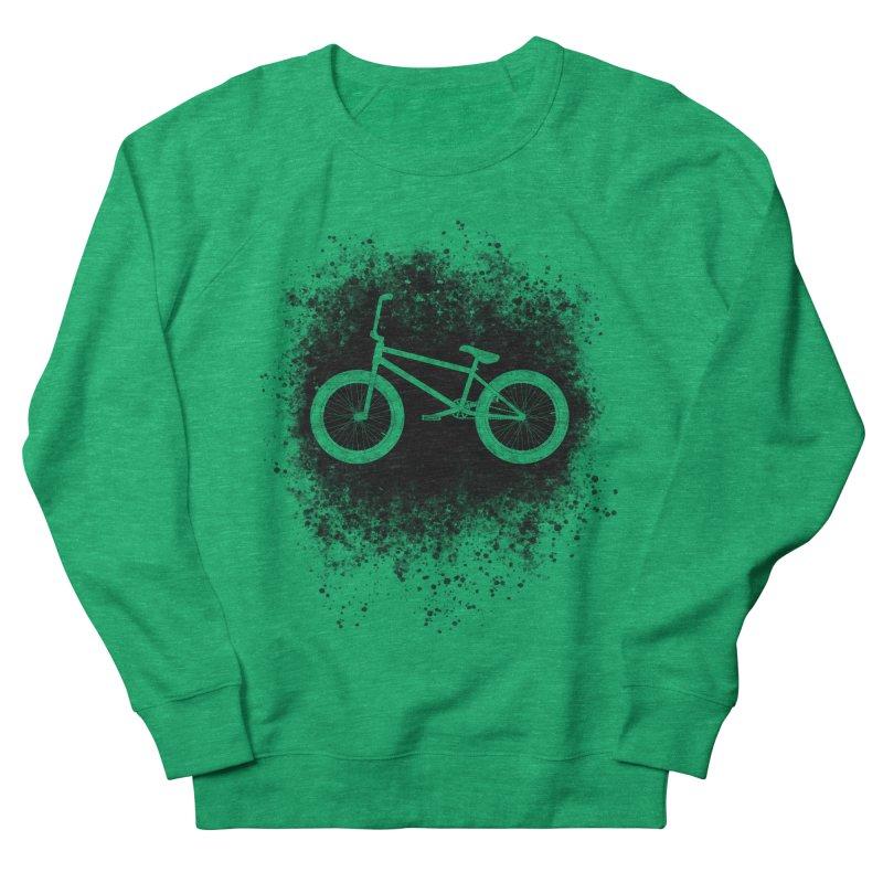 BMX Bike Splatter Women's Sweatshirt by The Wandering Fools Artist Shop