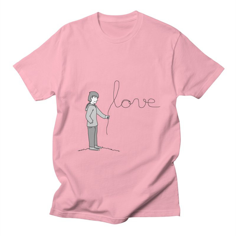 LOVE YOU - His & Hers Matching Couples T-Shirts (MEN'S) in Men's Regular T-Shirt Light Pink by The Wandering Fools