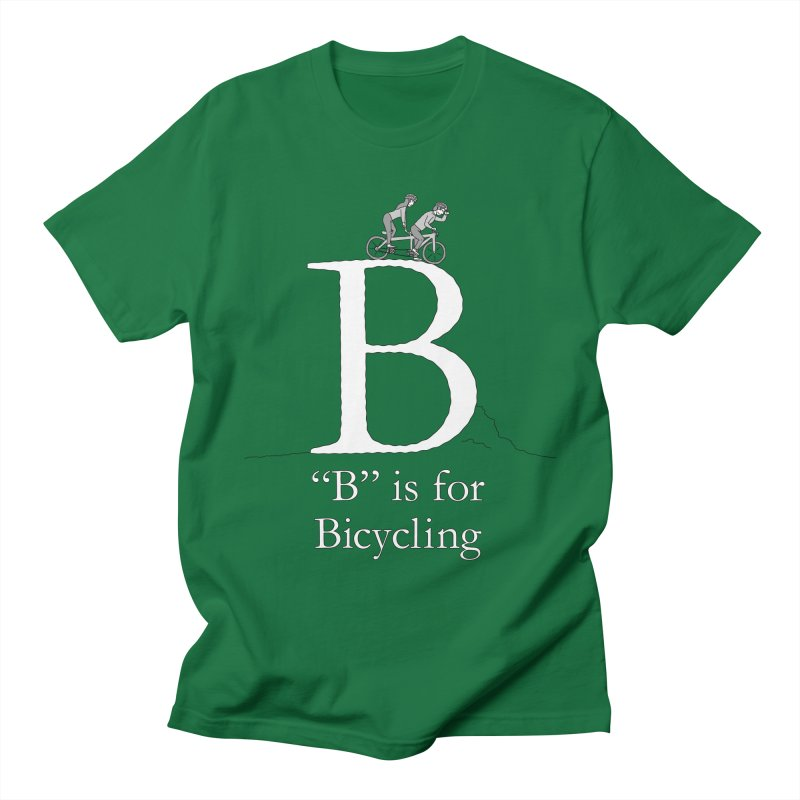 B is for Bicycling Men's T-Shirt by The Wandering Fools Artist Shop