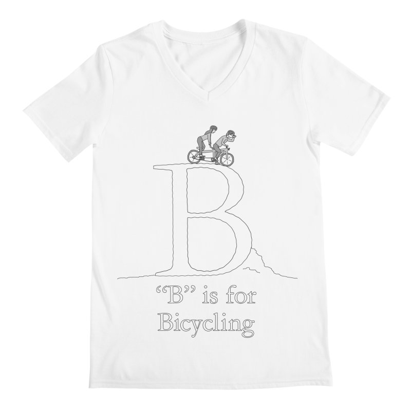 B is for Bicycling Men's V-Neck by The Wandering Fools Artist Shop