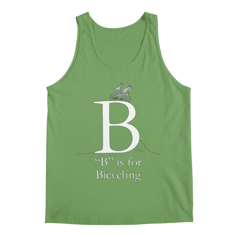 B is for Bicycling Men's Tank by The Wandering Fools Artist Shop