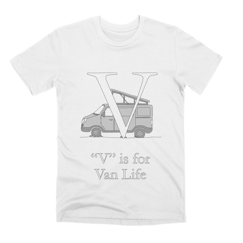 V is for Van Life Men's T-Shirt by The Wandering Fools Artist Shop