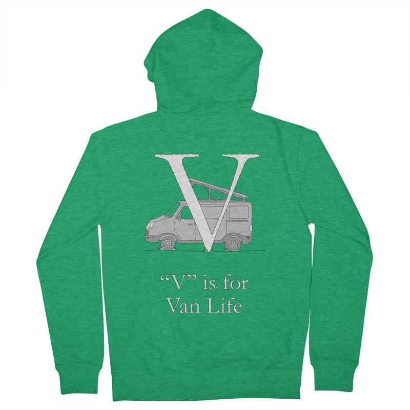 V is for Van Life Men's Zip-Up Hoody by The Wandering Fools Artist Shop