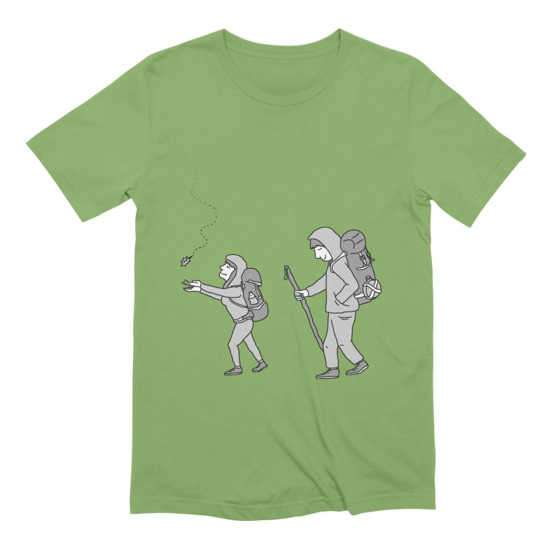 I Love to Hike with You in Men's Extra Soft T-Shirt Avocado by The Wandering Fools