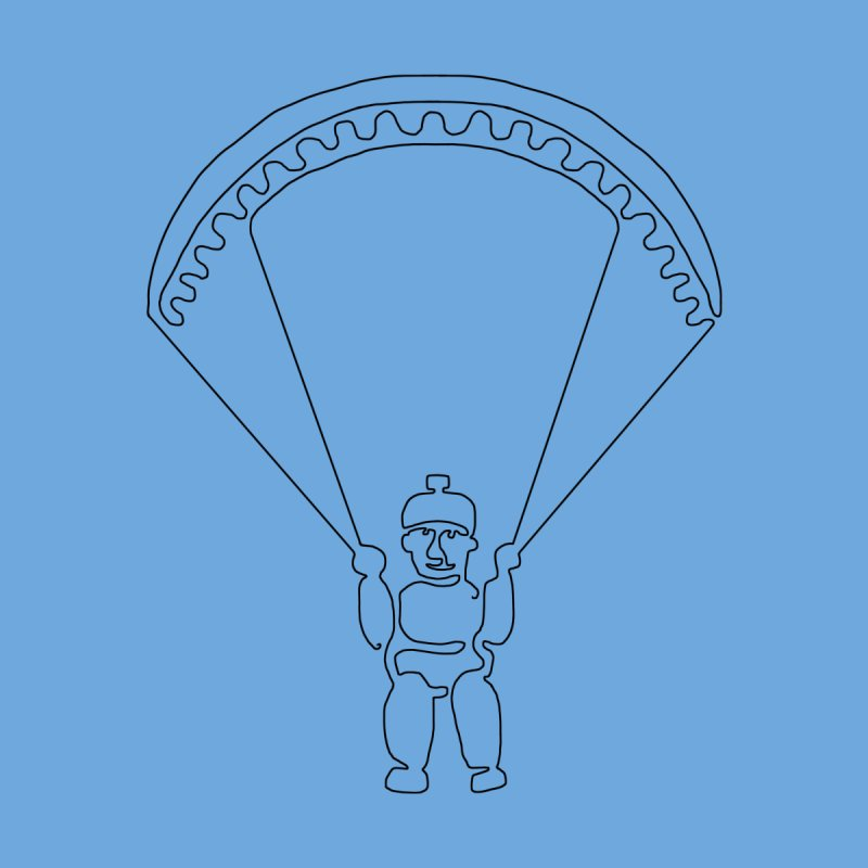 The Wandering Fools - Paragliding Line Men's T-Shirt by The Wandering Fools Artist Shop