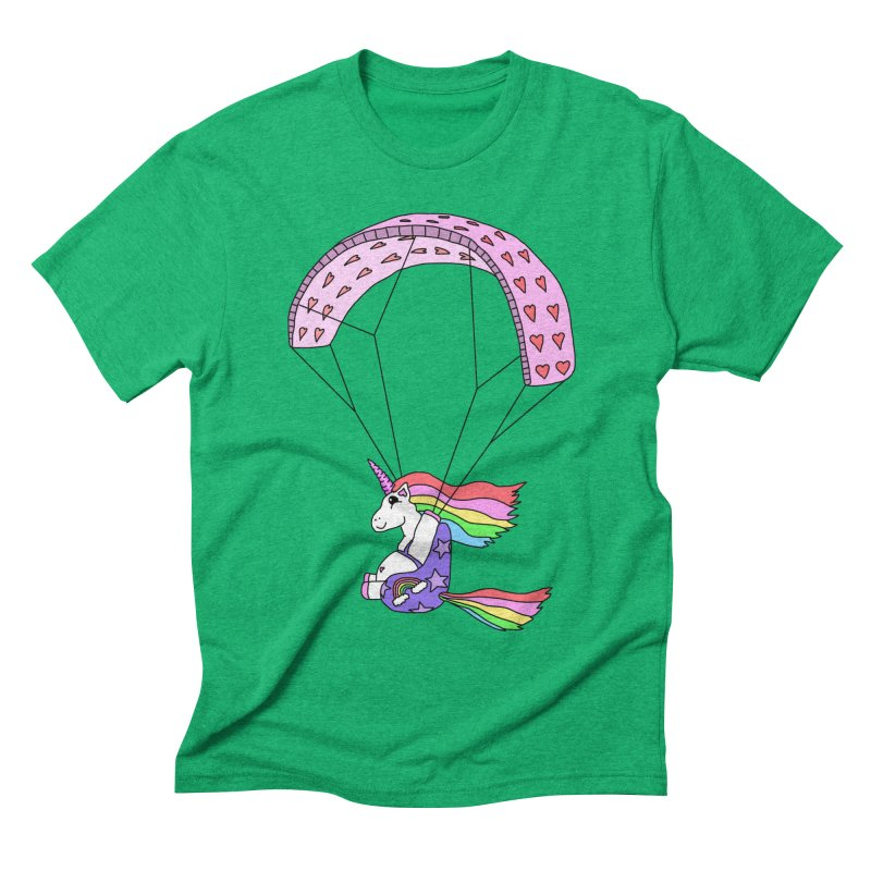 The Wandering Fools - Paracorn, the Paragliding Unicorn Men's T-Shirt by The Wandering Fools Artist Shop