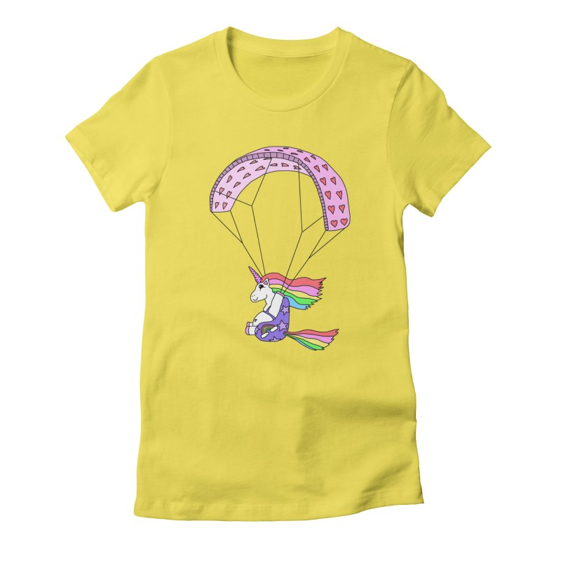 The Wandering Fools - Paracorn, the Paragliding Unicorn Women's T-Shirt by The Wandering Fools Artist Shop