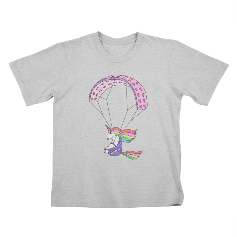 The Wandering Fools - Paracorn, the Paragliding Unicorn Kids T-Shirt by The Wandering Fools Artist Shop