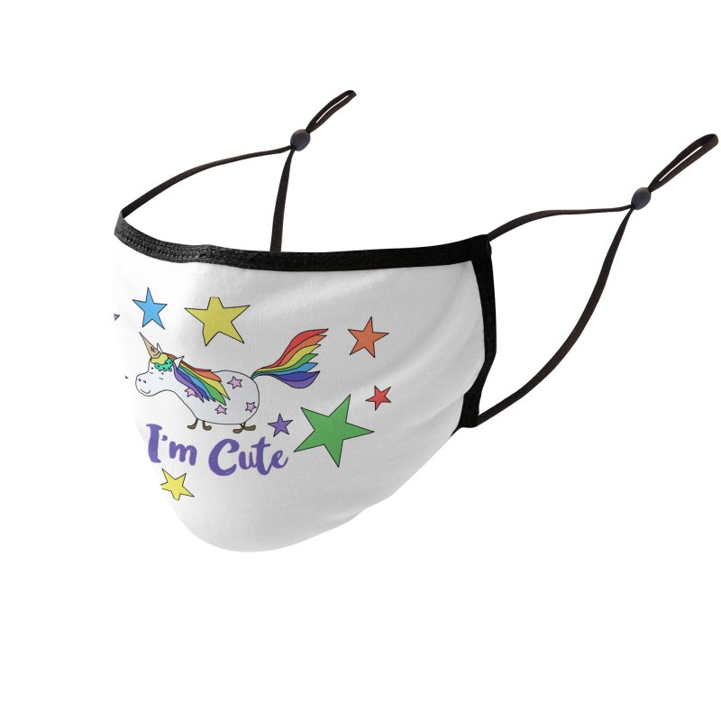 Ice Cream Unicorn - I'm Cute Accessories Face Mask by The Wandering Fools Artist Shop
