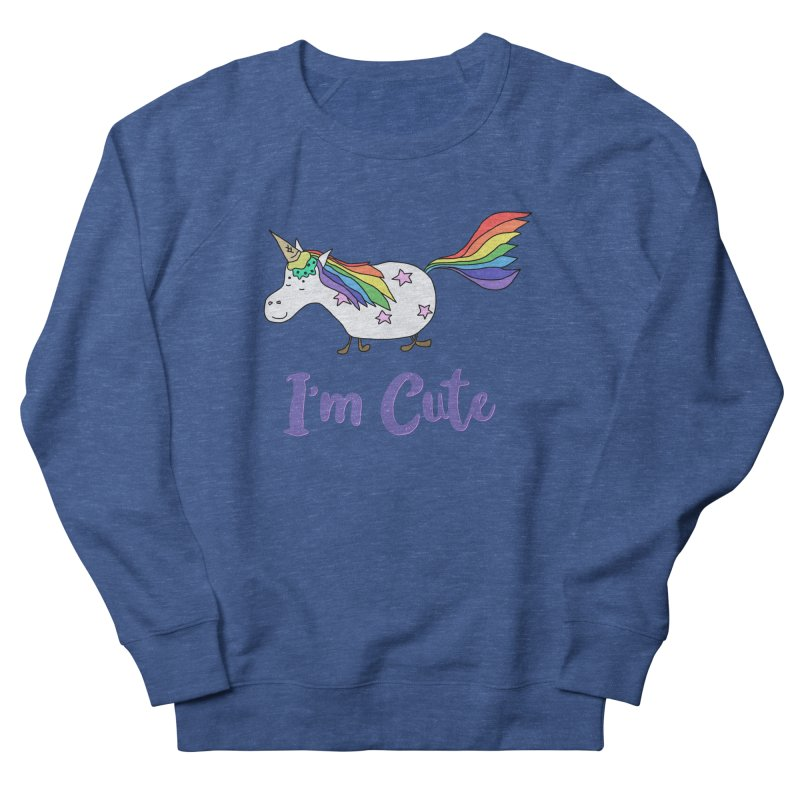 Ice Cream Unicorn - I'm Cute Men's Sweatshirt by The Wandering Fools Artist Shop