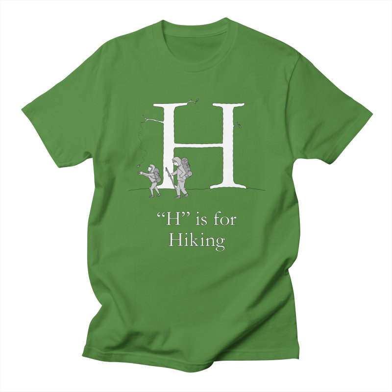 H is for Hiking in Women's Regular Unisex T-Shirt Clover by The Wandering Fools