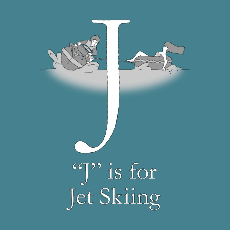 J is for Jet Skiing Men's T-Shirt by The Wandering Fools