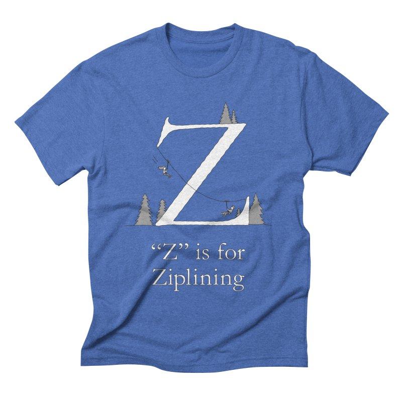Z is for Ziplining Men's T-Shirt by The Wandering Fools Artist Shop