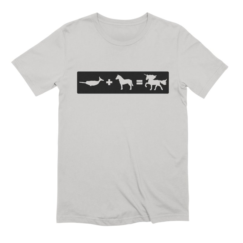 Narwhal + Horse = Unicorn in Men's Extra Soft T-Shirt Stone by The Wandering Fools