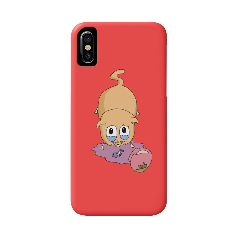 Sad Cat Accessories Phone Case by The Wandering Fools