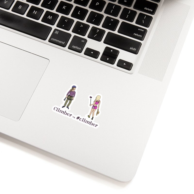 Climber vs #climber Accessories Sticker by The Wandering Fools