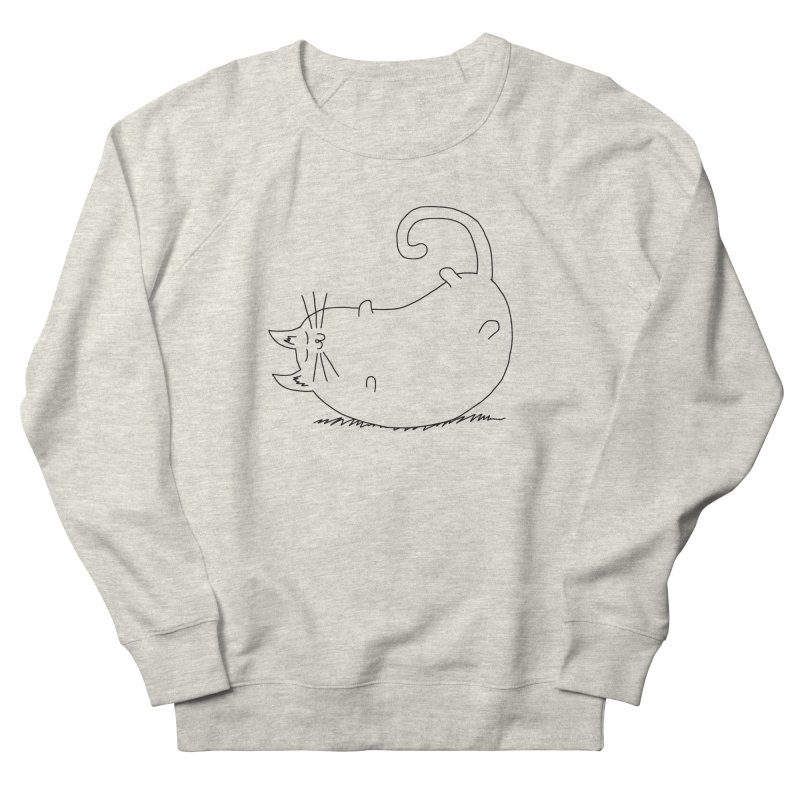 Sleeping Cat Men's French Terry Sweatshirt by The Wandering Fools