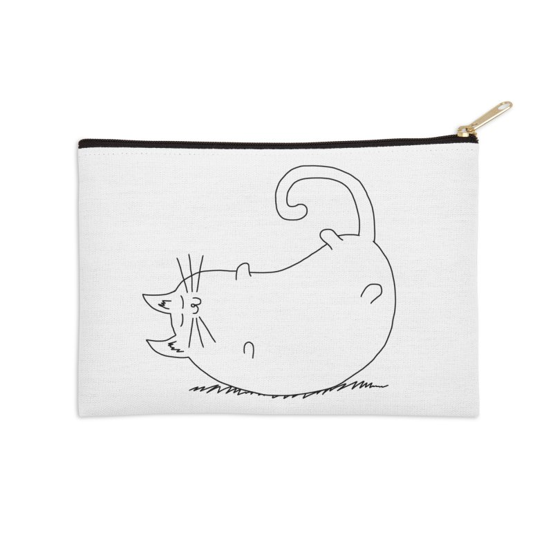 Sleeping Cat Accessories Zip Pouch by The Wandering Fools