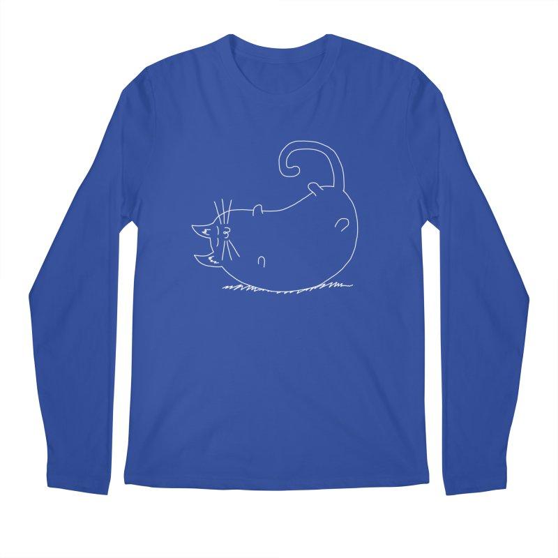Sleeping Cat Men's Regular Longsleeve T-Shirt by The Wandering Fools