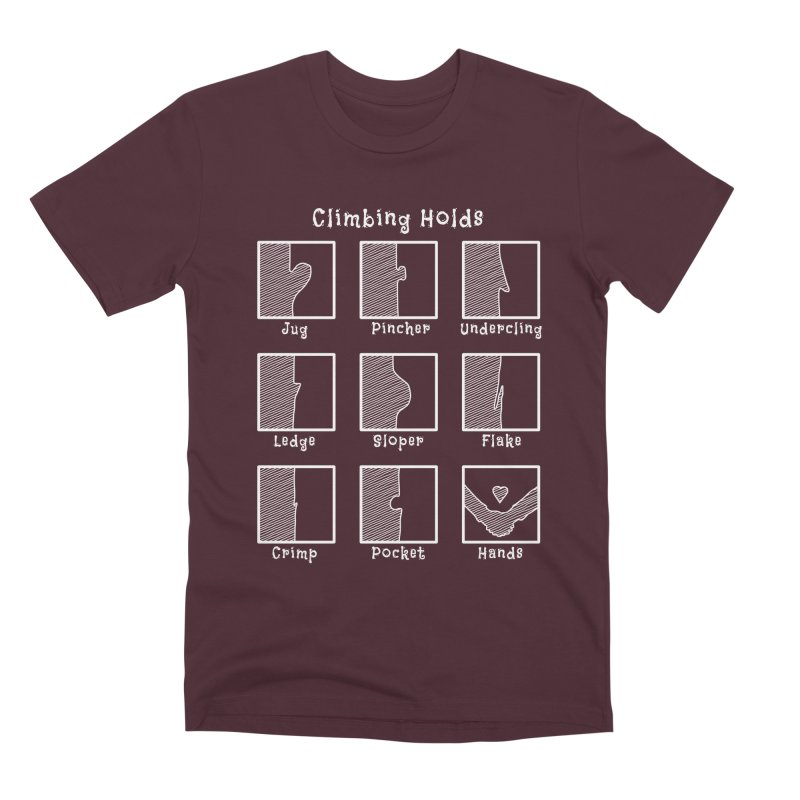 Climbing Holds Men's Premium T-Shirt by The Wandering Fools