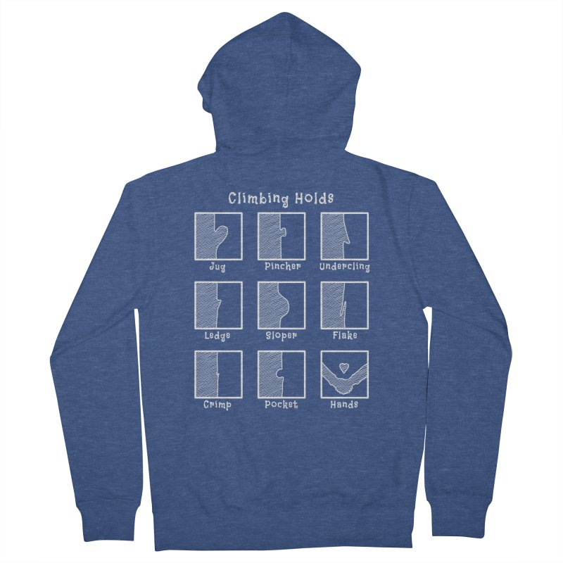 Climbing Holds Men's Zip-Up Hoody by The Wandering Fools Artist Shop