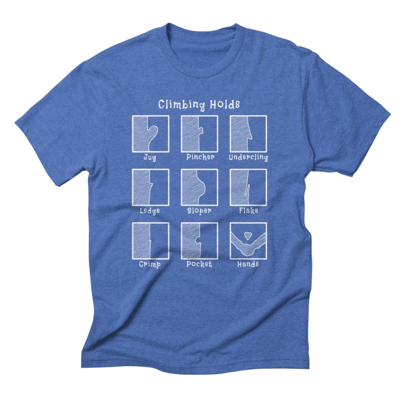 Climbing Holds Men's Triblend T-Shirt by The Wandering Fools
