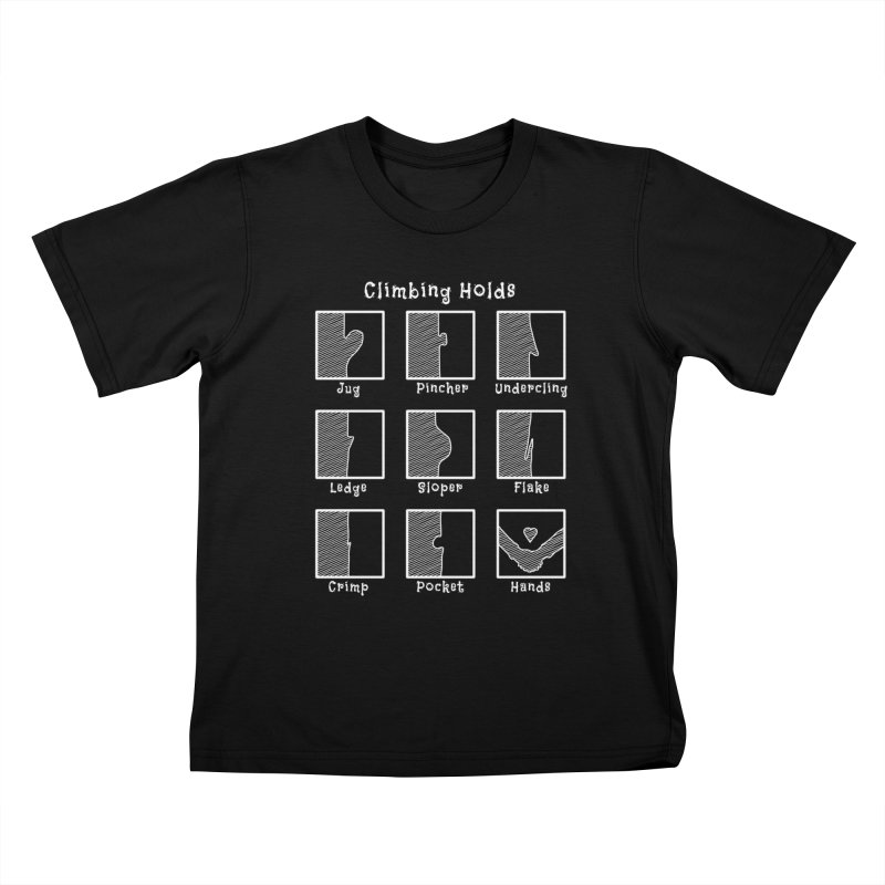 Climbing Holds Kids T-Shirt by The Wandering Fools