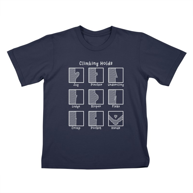 Climbing Holds Kids T-Shirt by The Wandering Fools Artist Shop