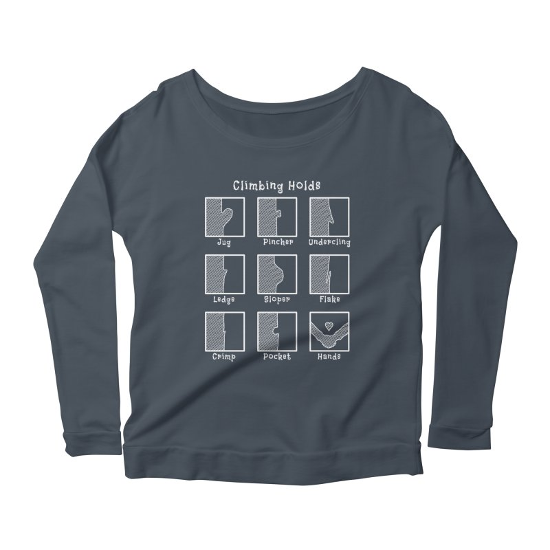 Climbing Holds Women's Scoop Neck Longsleeve T-Shirt by The Wandering Fools