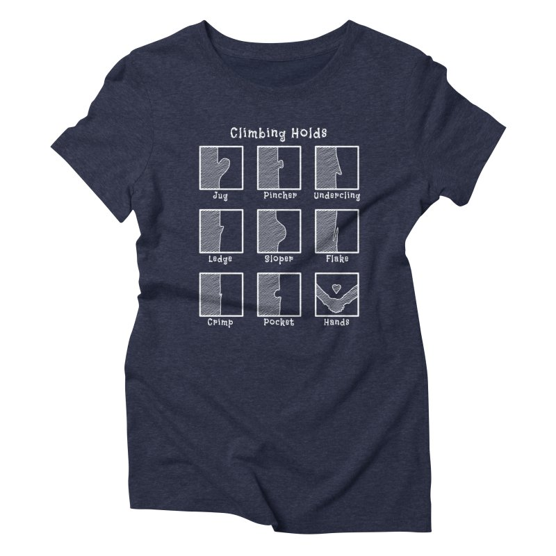 Climbing Holds Women's Triblend T-Shirt by The Wandering Fools