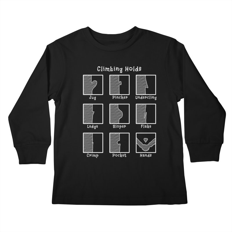 Climbing Holds Kids Longsleeve T-Shirt by The Wandering Fools