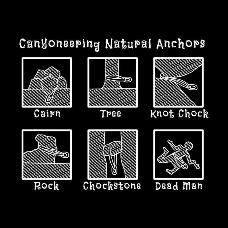 Canyoneering Natural Anchors Men's Sweatshirt by The Wandering Fools