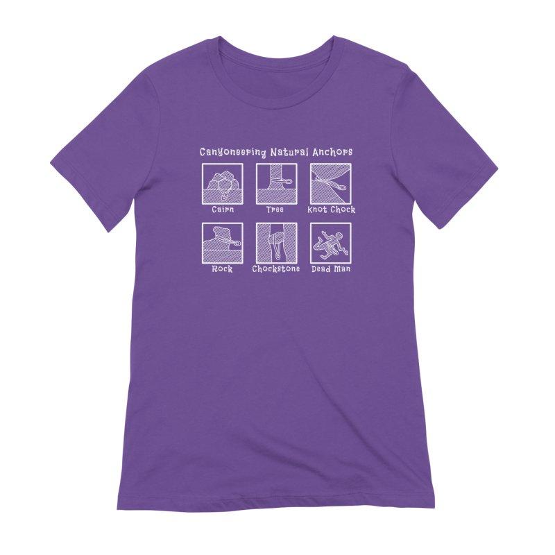 Canyoneering Natural Anchors Women's Extra Soft T-Shirt by The Wandering Fools