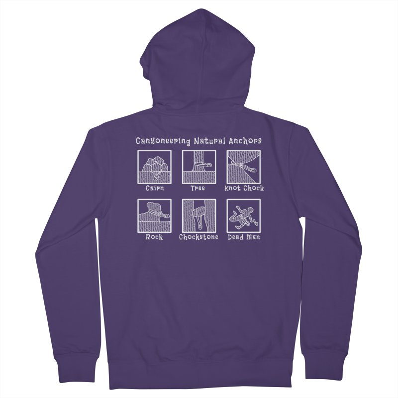Canyoneering Natural Anchors Women's French Terry Zip-Up Hoody by The Wandering Fools