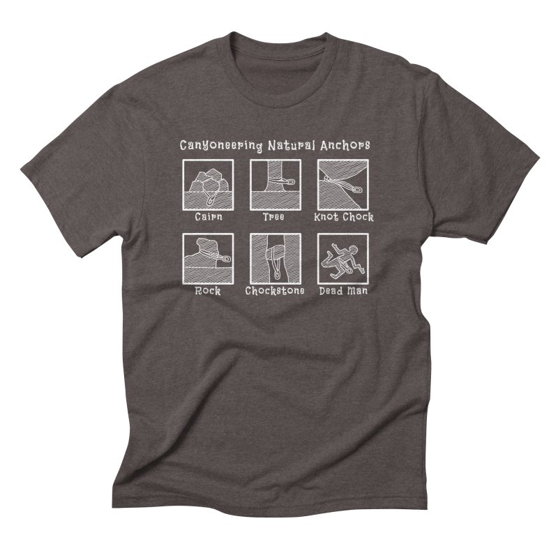 Canyoneering Natural Anchors Men's Triblend T-Shirt by The Wandering Fools