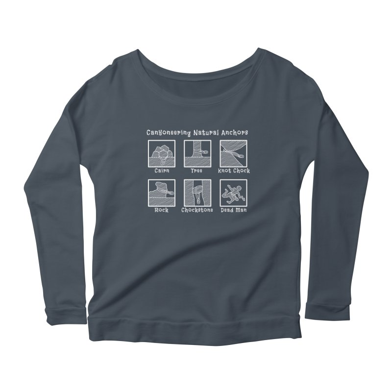 Canyoneering Natural Anchors Women's Scoop Neck Longsleeve T-Shirt by The Wandering Fools