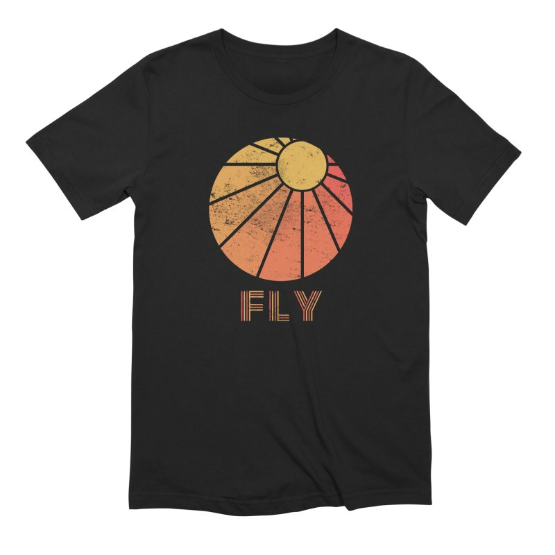 Retro Fly - Paragliding/Hang Gliding in Men's Extra Soft T-Shirt Black by The Wandering Fools