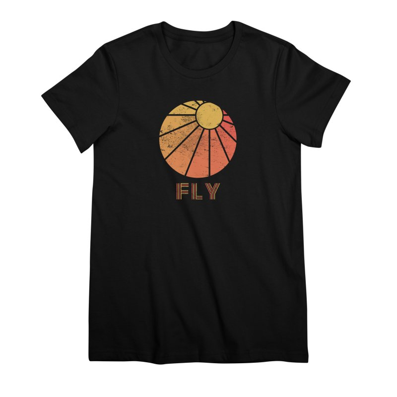 Retro Fly - Paragliding/Hang Gliding Women's Premium T-Shirt by The Wandering Fools