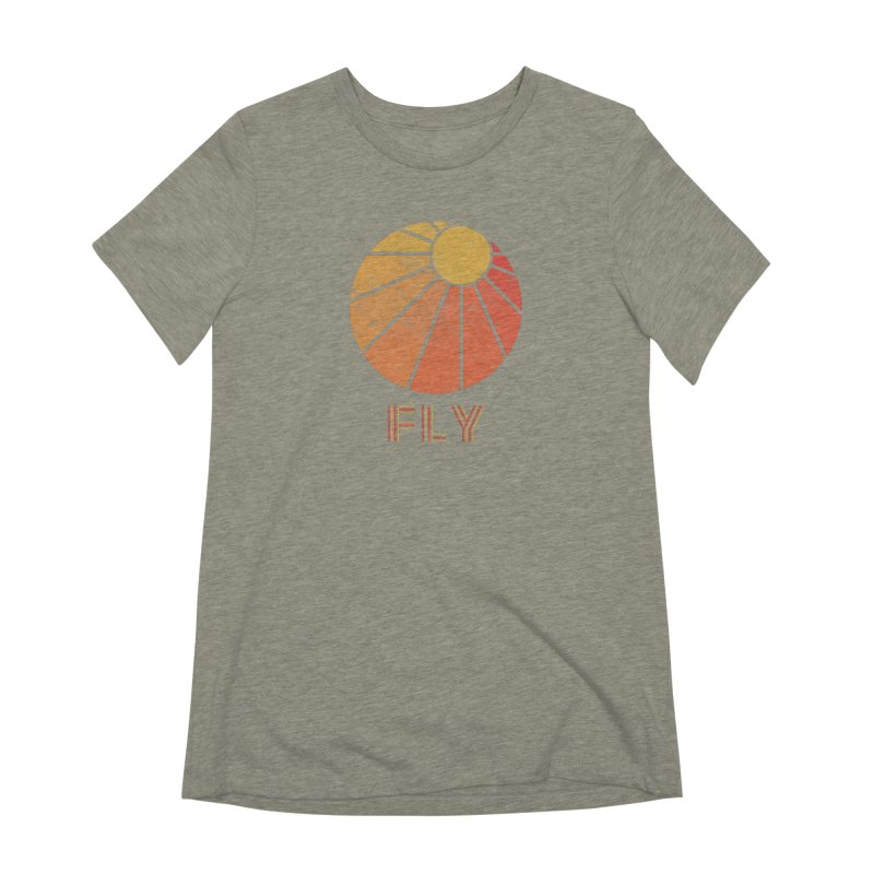 Retro Fly - Paragliding/Hang Gliding Women's Extra Soft T-Shirt by The Wandering Fools