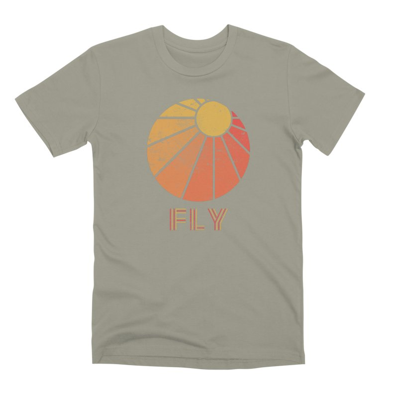 Retro Fly - Paragliding/Hang Gliding Men's Premium T-Shirt by The Wandering Fools