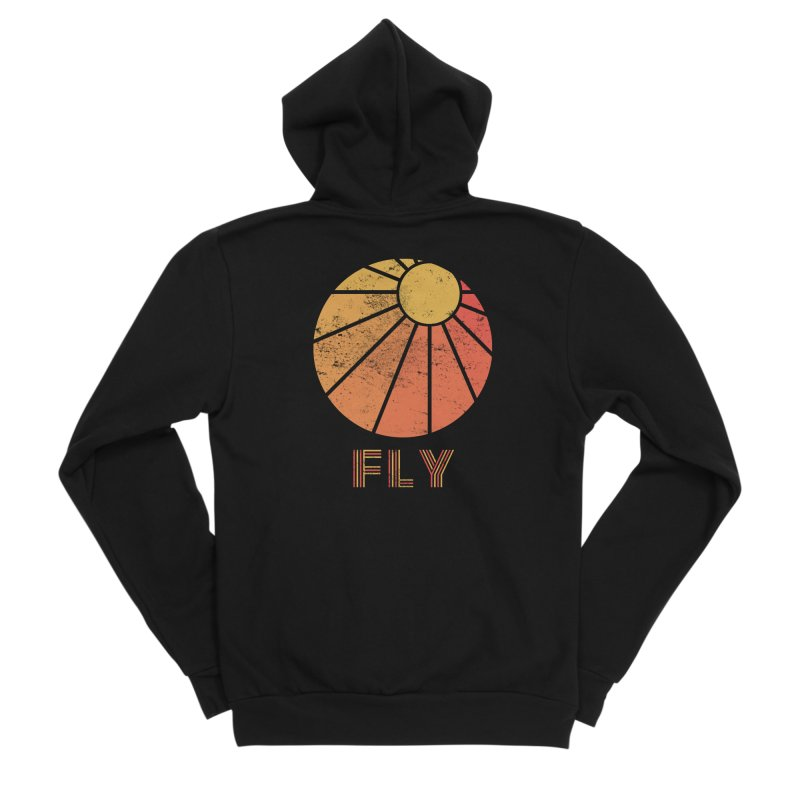 Retro Fly - Paragliding/Hang Gliding Women's Sponge Fleece Zip-Up Hoody by The Wandering Fools