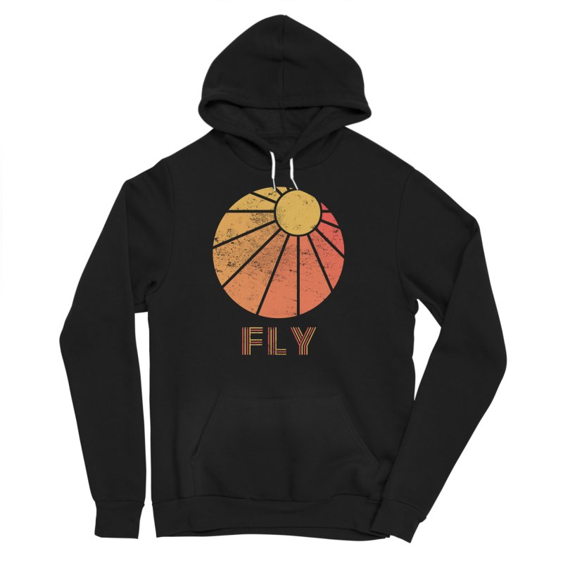 Retro Fly - Paragliding/Hang Gliding Women's Sponge Fleece Pullover Hoody by The Wandering Fools