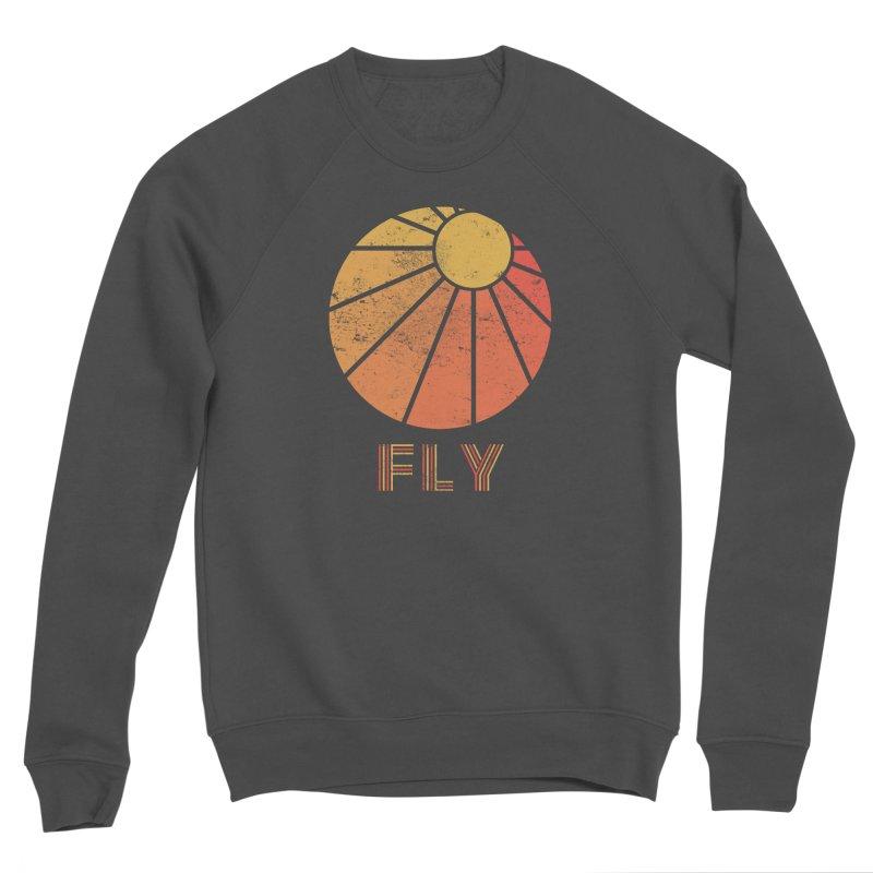 Retro Fly - Paragliding/Hang Gliding Women's Sponge Fleece Sweatshirt by The Wandering Fools