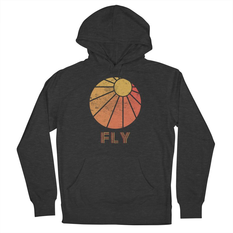 Retro Fly - Paragliding/Hang Gliding Women's French Terry Pullover Hoody by The Wandering Fools