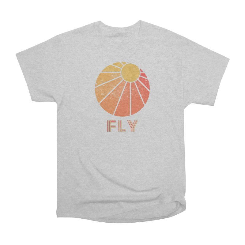 Retro Fly - Paragliding/Hang Gliding Men's Heavyweight T-Shirt by The Wandering Fools